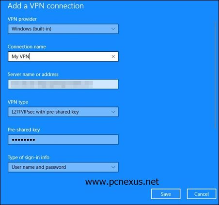 windows 10 vpn setup