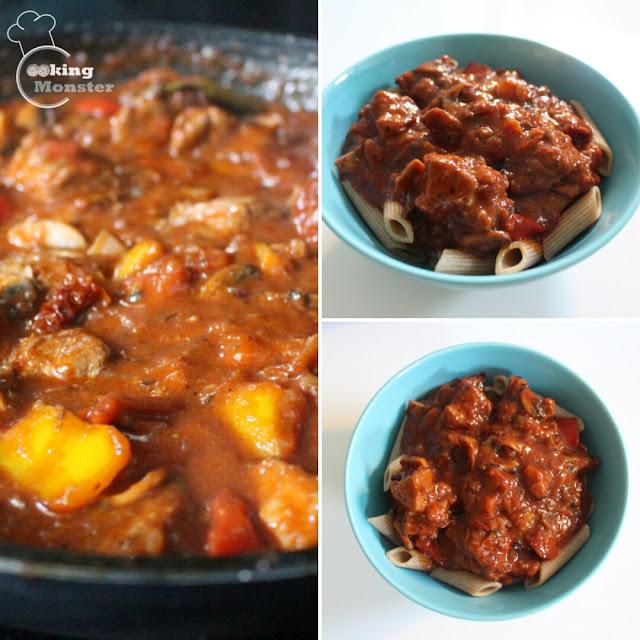 Gulasz wieprzowy z suszonymi pomidorami