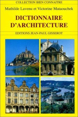 dictionnaire d 39 architecture pdf book batiment. Black Bedroom Furniture Sets. Home Design Ideas