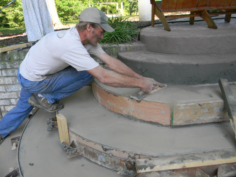Home Joys Finished Project Stamped Concrete Steps