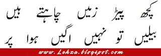 Kuch Pheed Zameen Chahte Hain Beelien To Nahi Ugi Hawa Par