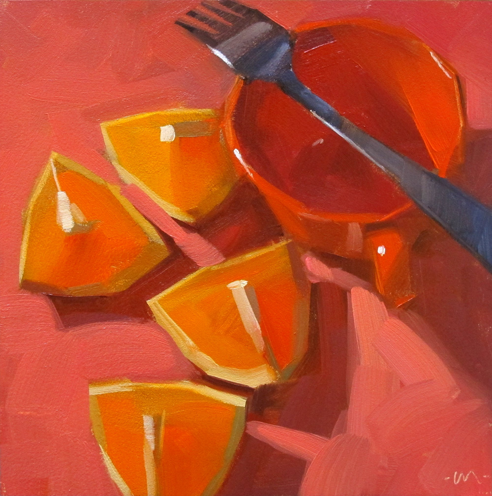carol marine's painting a day: stick a fork in it