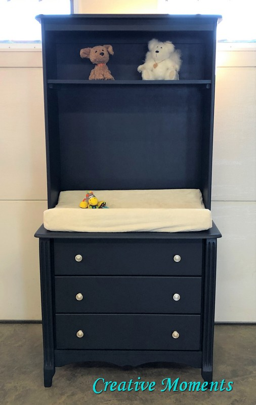 First Custom Of 2019 Navy Dresser With Hutch Turned Change