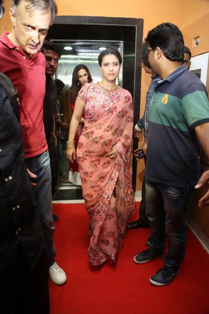 Kajol In Red Saree At VIP 2 Press Meet At Hyderabad
