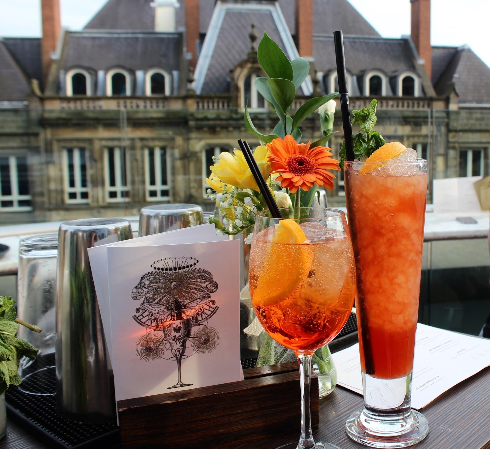 The Alchemist Trinity Leeds cocktail terrace