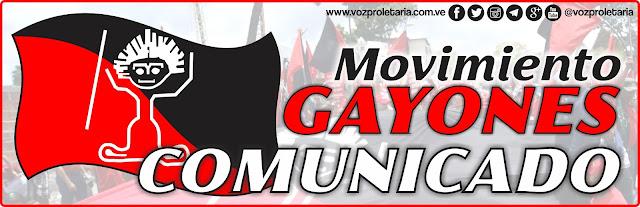 Comunicado del Movimiento Gayones
