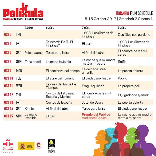 PELÍCULA-PELIKULA schedule
