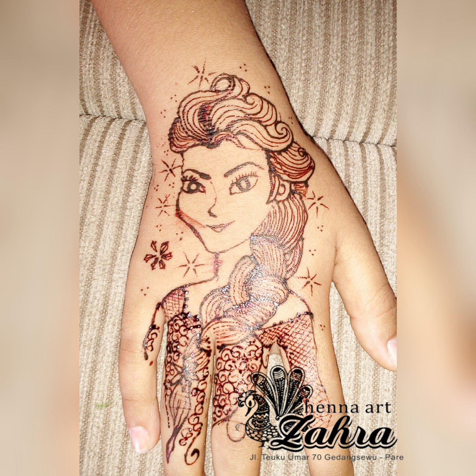 gambar henna untuk anak anak  balehenna
