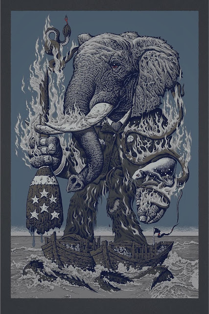 "MondoCon 2016 Exclusive ""The Aftermath"" Metallic Variant Screen Print by Mike Sutfin x The Vacvvm"