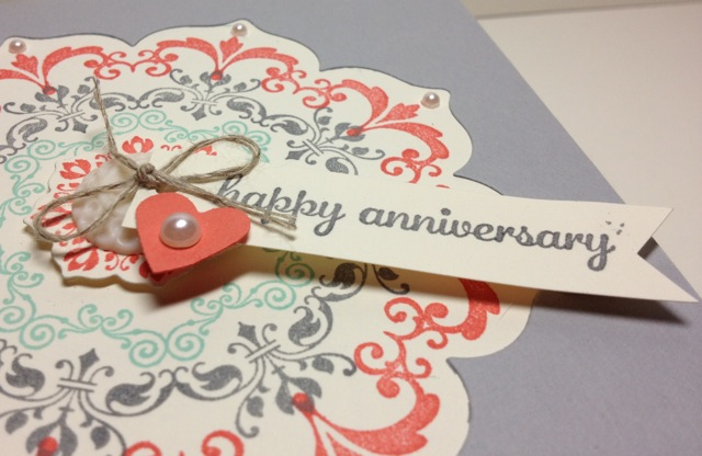 √ making your own anniversary card