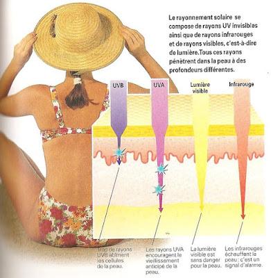 les réactions cutanées normales au soleil
