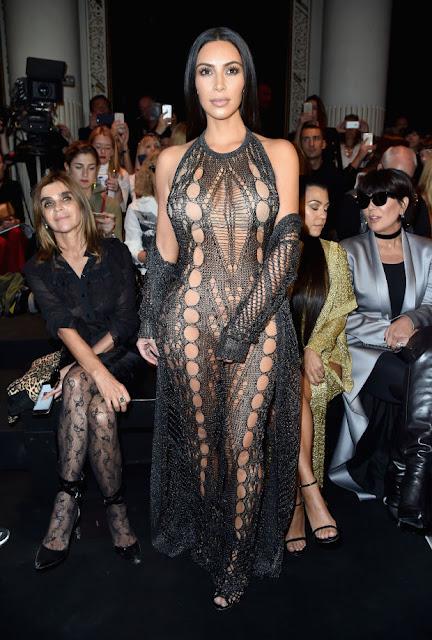 Kim Kardashian at the Balmain spring 2017 show during Paris Fashion Week. Photo: Pascal Le Segretain/Getty Images