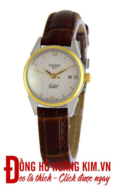 Đồng hồ đeo tay nữ Tissot dây da giá rẻ dưới 1 triệu