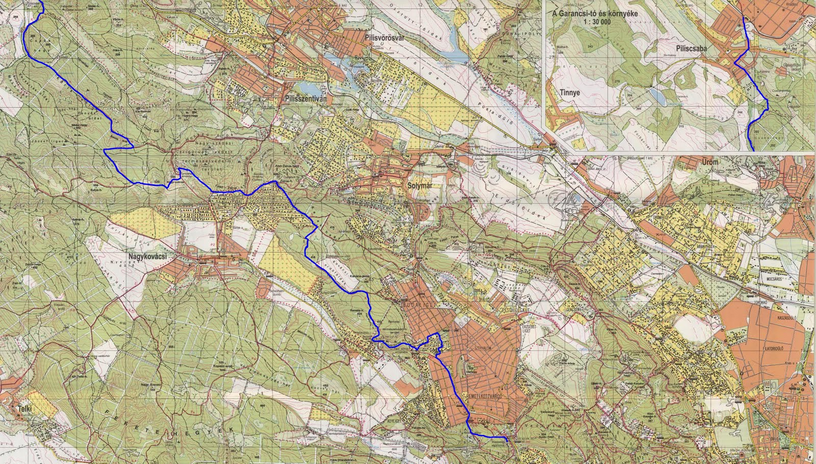 piliscsaba térkép Sothy túranaplója: 2011.04.23.   ORSZÁGOS KÉKTÚRA ( OKT ) 13  piliscsaba térkép