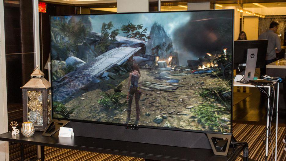 CES 2019: HP Umumkan Monitor Gaming 65 Inch - Omen X Emperium