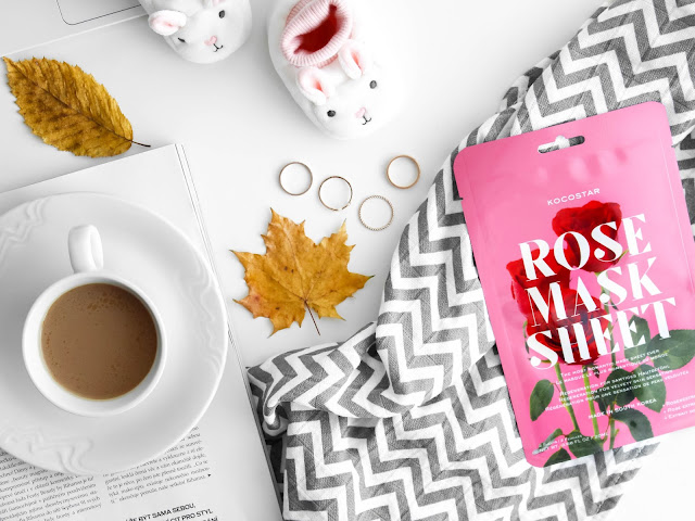 kocostar rose mask sheet maska s růží