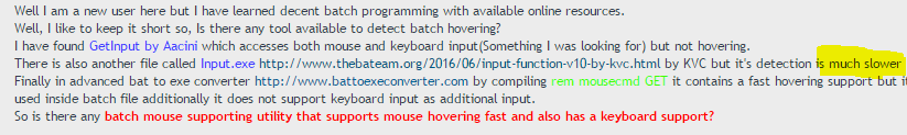 Mouse Hovering in CMD | Fight for efficiency | Advance Batch