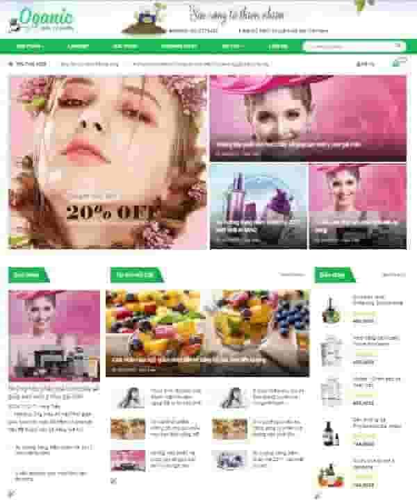 Theme blogspot bán hàng Oganic