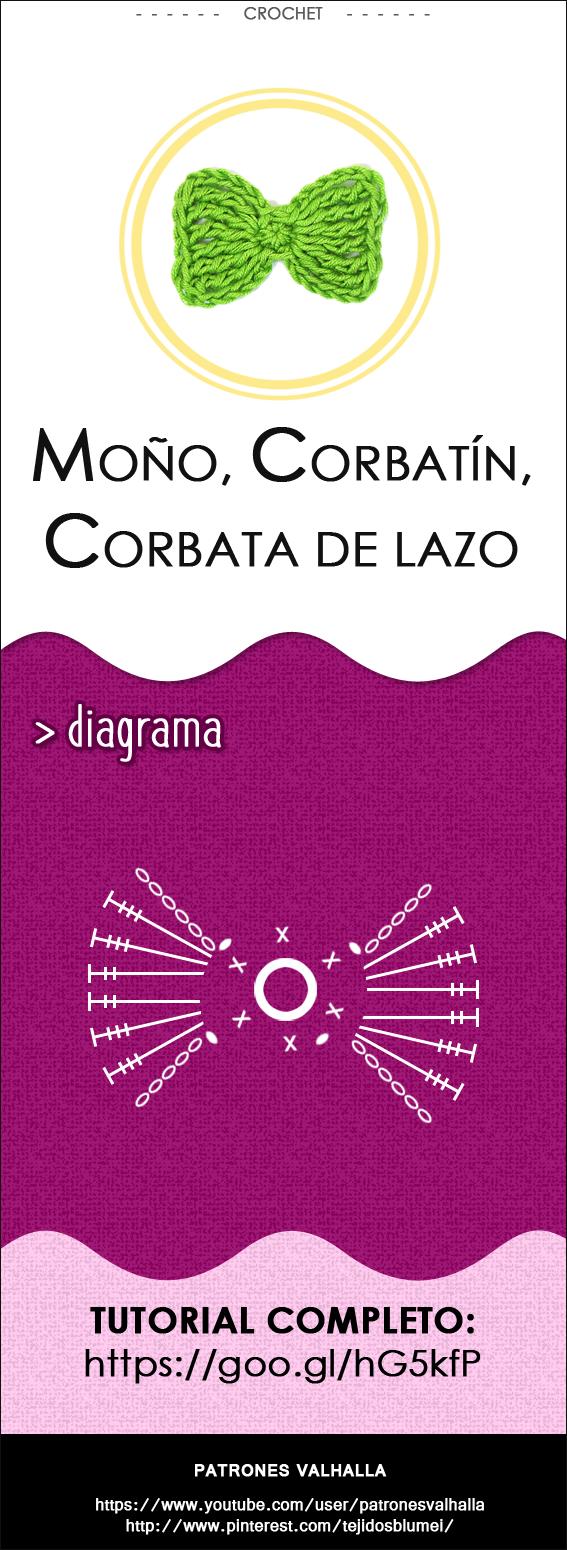 Corbata de Moño a Crochet - PATRONES VALHALLA: Patrones gratis de ...
