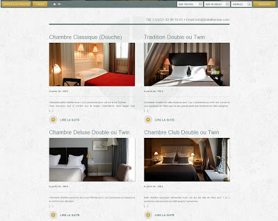 site internet hotel paris