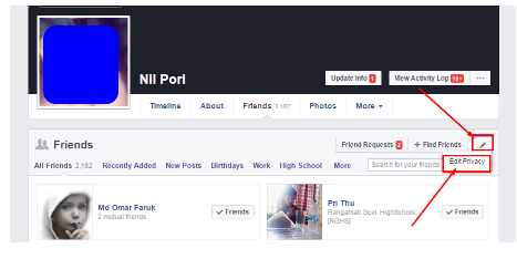 How to Hide Friends List on Facebook.Computer And Mobile