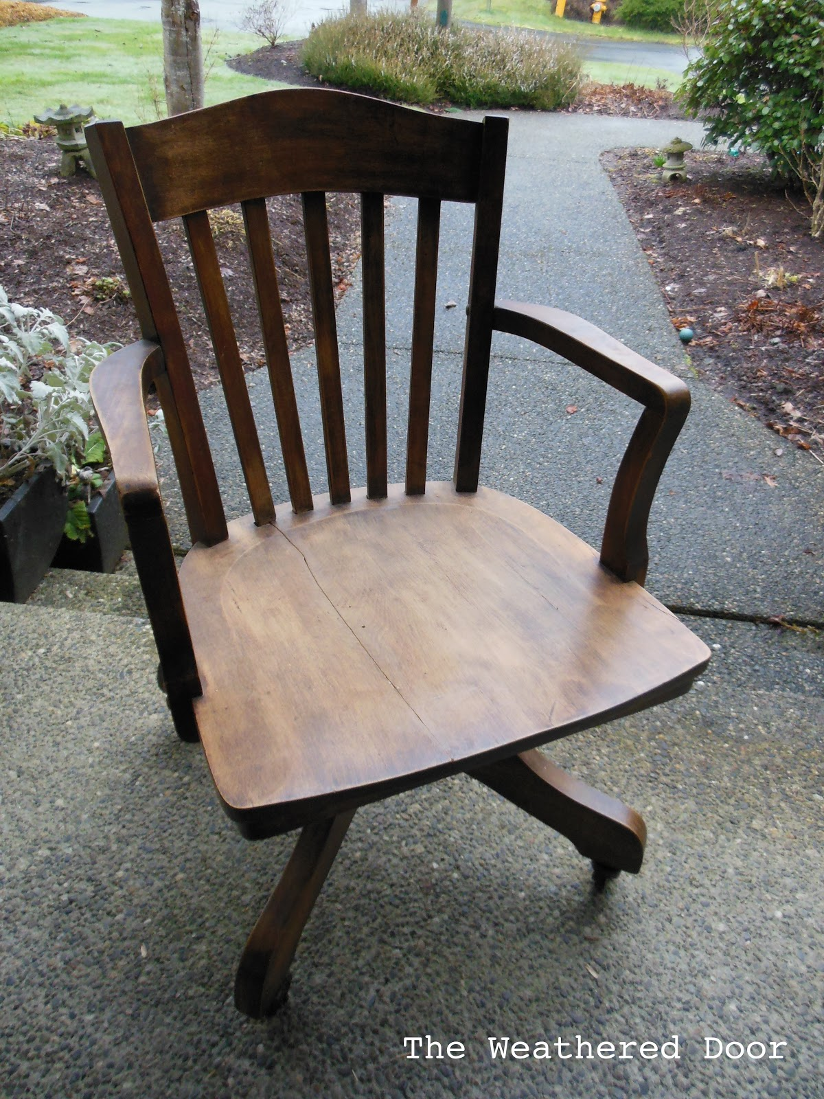 Wood Bankers Chair Slate Banker 39s Chair The Weathered Door