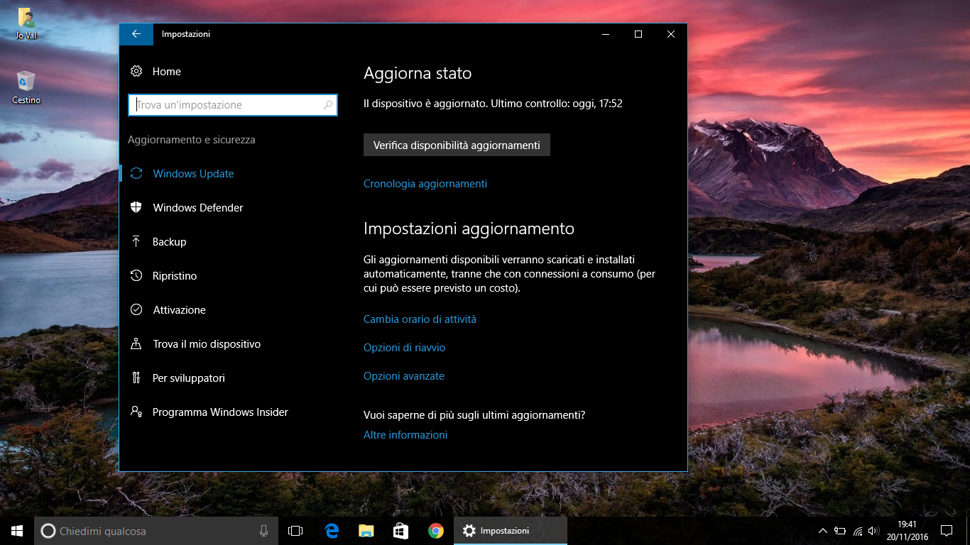 Come pianificare il Riavvio del PC per l'installazione degli Aggiornamenti in Windows 10 HTNovo