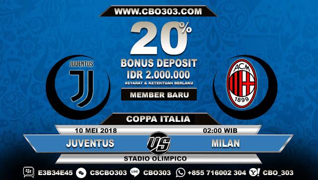 Prediksi Bola Juventus VS Milan 10 Mei 2018