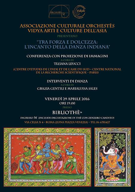 danza odissi roma conferenza spettacolo tiziana leucci marialuisa sales grazia gentili