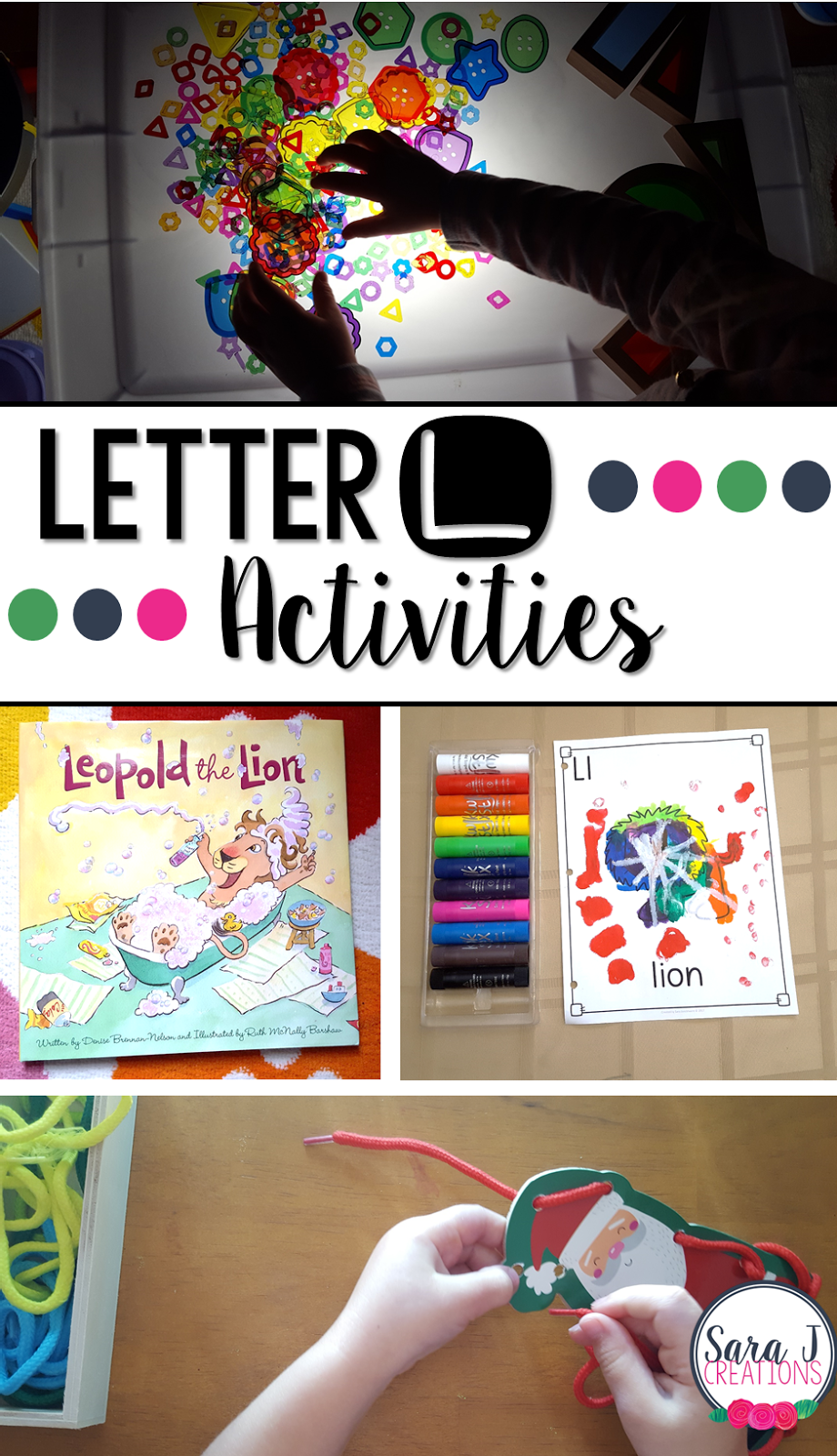 Letter L Activities that would be perfect for preschool or kindergarten. Art, fine motor, literacy and alphabet practice all rolled into Letter L fun.