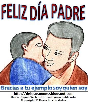Dibujo del Día del Padre para niños a colores. Imagen por el Día del Padre de Jesus Gómez