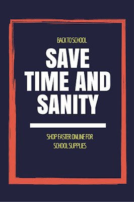 Saving time and sanity by shopping online for your school supplies | back to school tips