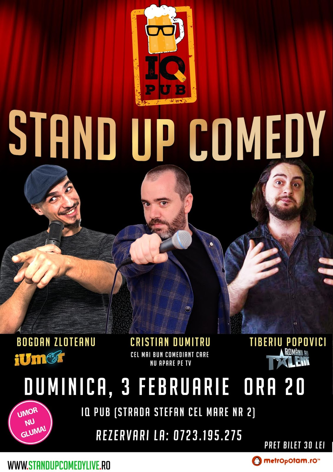 Stand-Up Comedy Constanta Duminica 3 Februarie 2019