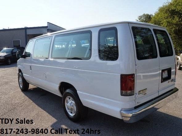 tdy sales 817 243 9840 for sale 15 passenger van 2012 ford econoline wagon e 350 sd xlt 42k. Black Bedroom Furniture Sets. Home Design Ideas