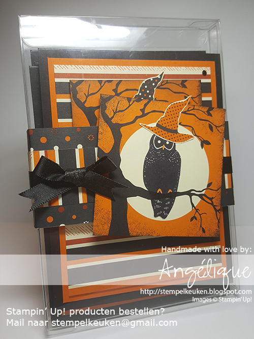 Stampin' Up! producten bestel je bij de Stempelkeuken stempelkeuken@gmail.com #stempelkeuken #stampinup #stampinupnl #halloween #halloween2017 #spookynight #spookycat #catpunch #owl #owloween #black #pumpkinpie #diy #handmade #dsp #cardstock #cardmaking #papercraft #papercrafting #denhaag #thehague #delft #scheveningen #zuidholland #creatief #kreativ #creative #cardbox #ribbon