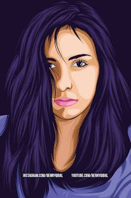 Girl Vector Portrait Using Adobe Illustrator Tutorial