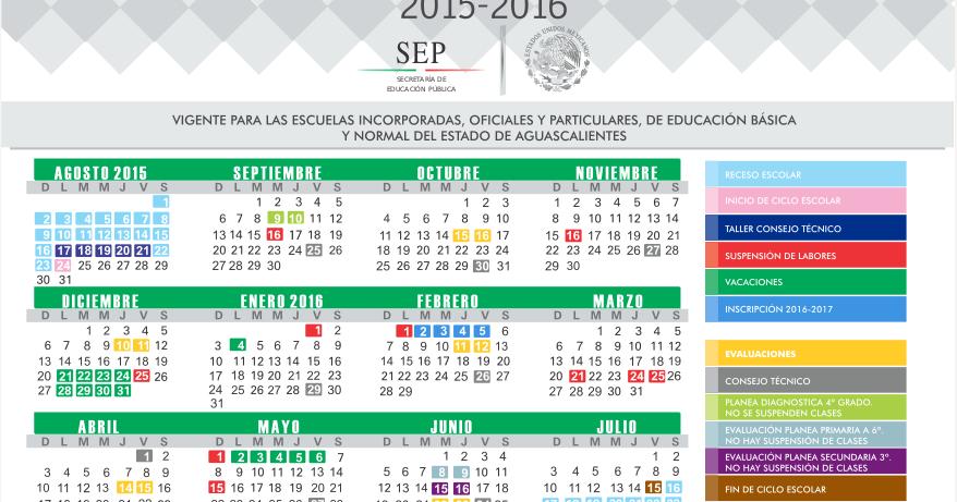 cctmexico: Calendario oficial del Instituto de Educación de ...