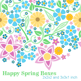 Happy Spring Free printable boxes in 2 sizes