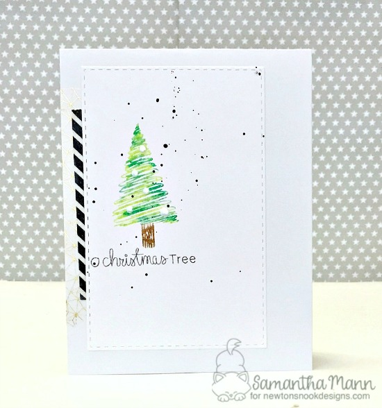 Christmas Tree Card by Samantha Mann | Festive Forest Stamp Set by Newton's Nook Designs #newtonsnook