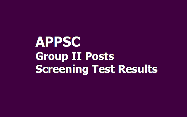 APPSC Group II Posts Screening Test Results 2019 for Mains Exam (APPSC Group 2 Prelims Results)