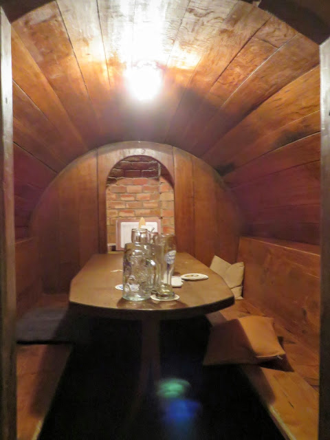 Business Trip to Munich - Barrel Table at Augustiner Keller