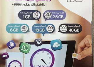 أسعار باقات الانترنت المحمول الشبكة الرابعة للمحمول We