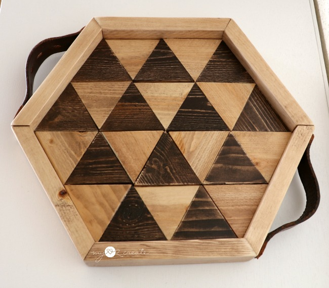 Triangle Hexagon Tray with handles