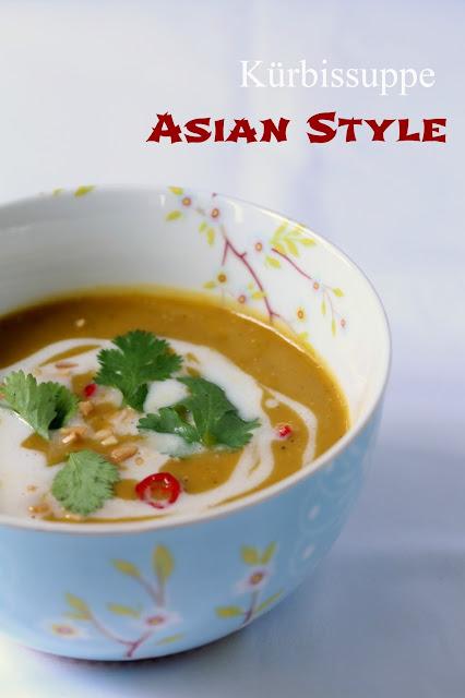 Kürbisuppe, asiatisch angehaucht