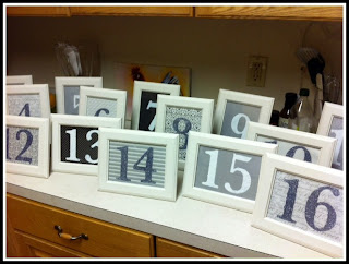 Wedding Project ~ Table Numbers