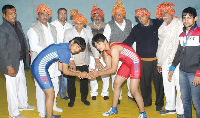 For organizing two-day District Kumar and District Kesari wrestling competition in sports complex