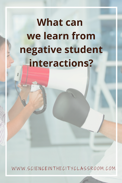 Reflection and suggestions on our role in negative student interactioins