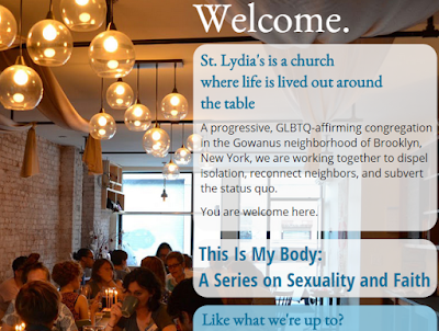 St. Lydia's Brooklyn - snip of homepage
