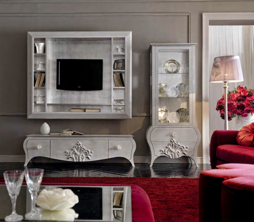 Design interior - Amenajari interioare - Bucuresti - Mobila clasica de lux living dining Italia, Mobila clasica de lux living dining Italia , Mobila italia living Capri art.20-22