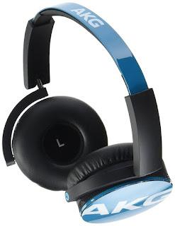 AKG Y50 - Auriculares de diadema cerrados (3.5 mm / 6.35 mm, 32 ohmios, 115 dB), color azul